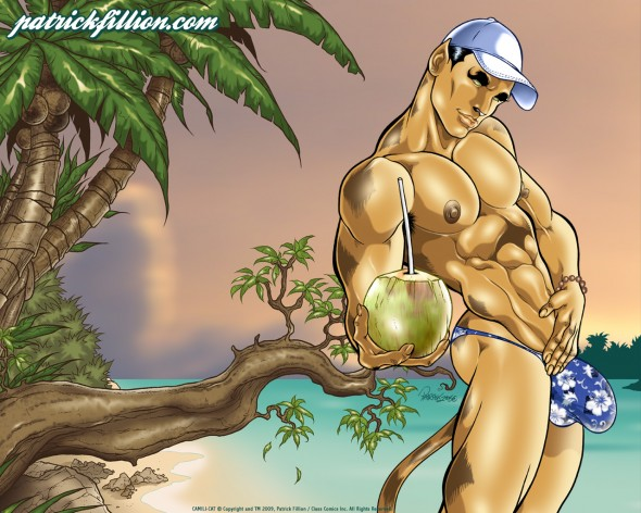 Camili-Cat's tropical paradise - 1280x1024